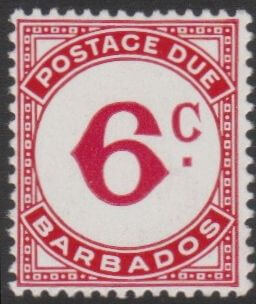 Barbados Postage Due D10