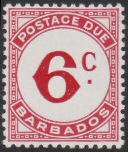 Barbados Postage Due D13