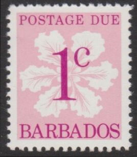 Barbados Postage Due D14