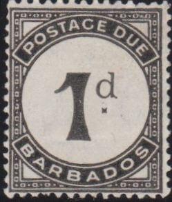 Barbados Postage Due D2