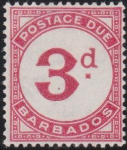 Barbados Postage Due D3