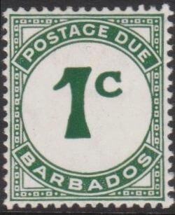 Barbados Postage Due D4a
