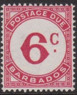 Barbados Postage Due D6
