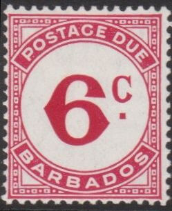 Barbados Postage Due D6a