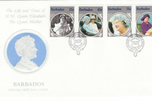 Barbados Queen Mother FDC