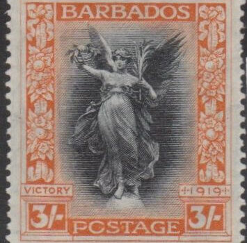 SG211 The 3/- stamp from the Victory series