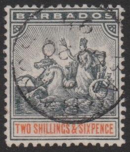 Barbados SG114 QV 2/6 stamp