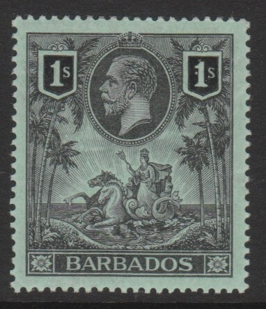 Barbados SG178 George V 1/- stamp