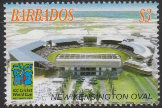 Barbados SG1308 - $3 New Kensington Oval