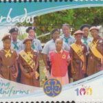 Girl Guides - $1 'Guiding Uniforms' - Barbados SG1356