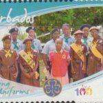 Girl Guides - $1 'Guiding Uniforms' - Barbados SG1356