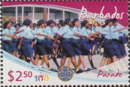 Girl Guides - $2.50 'Parade' - Barbados SG1357