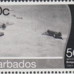 Barbados SG1396 - 50th Anniversary of Bridgetown Port - 10c Pelican Island