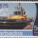 Barbados SG1398- 50th Anniversary of Bridgetown Port - $1.75 Tug Boat Barbados II