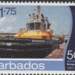 Barbados SG1398- 50th Anniversary of Bridgetown Port - $1.75 Tug Boat Barbados II
