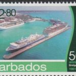 Barbados SG1399- 50th Anniversary of Bridgetown Port -$2.80 Aerial View Bridgetown Port