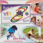 Centenary of Girlguiding - $3.50 minisheet - Barbados SGMS1358