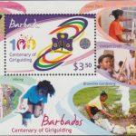 Centenary of Girlguiding - $3.50 minisheet - Barbados SGMS1358