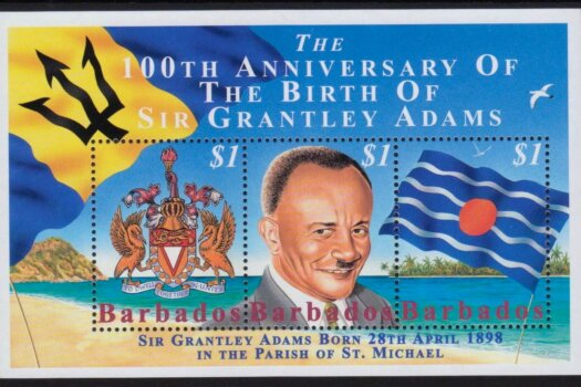 Barbados SGMS1120 | 100th Anniversary of the birth of Sir Grantley Adams Souvenir Sheet