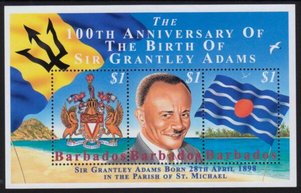 Barbados SGMS1120   100th Anniversary of the birth of Sir Grantley Adams Souvenir Sheet