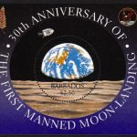 Barbados SGMS1142 | 30th Anniversary of the first Moon landing Souvenir Sheet