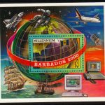 Barbados SG1152 - $3 Millennium mini sheet
