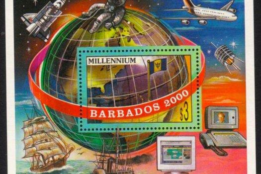 Barbados SG1152 - $3 Millennium mini sheet