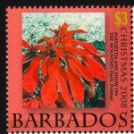 Barbados SG1335 - Christmas 2008 - $3 Poinsettia and Snow on the Mountains