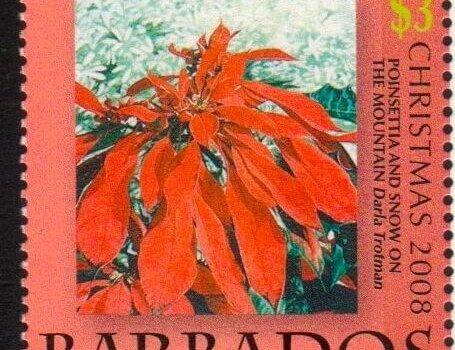 Barbados SG1335 - Christmas 2008 - $3 Poinsettia and Snow on the Mountains