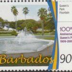 100th Anniversary of Queens Park - 90c Queen's Park Fountain - Barbados SG1344
