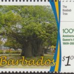 100th Anniversary of Queens Park - $1 The Baobab Tree - Barbados SG1345