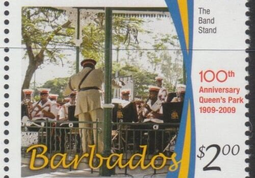 100th Anniversary of Queens Park - $2 The Band Stand - Barbados SG1347