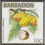 Local Fruits of Barbados - 10c Coconut - Barbados SG1360