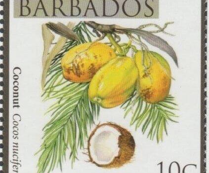 Local Fruits of Barbados - 10c Coconut - Barbados SG1360