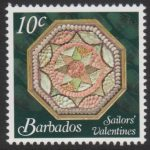 Sailors' Valentines - 10c - Barbados SG1375