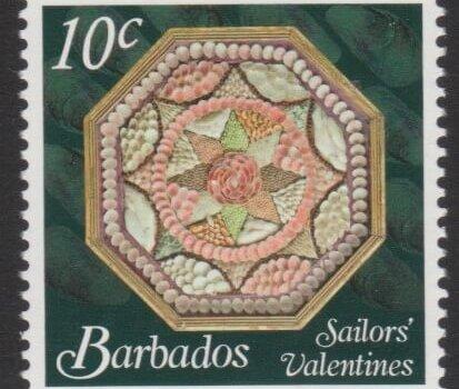 Sailors' Valentines - 10c - Barbados SG1375