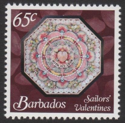 Sailors' Valentines - 65c - Barbados SG1376
