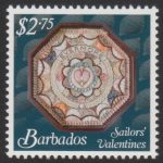 Sailors' Valentines - $2.75 - Barbados SG1378