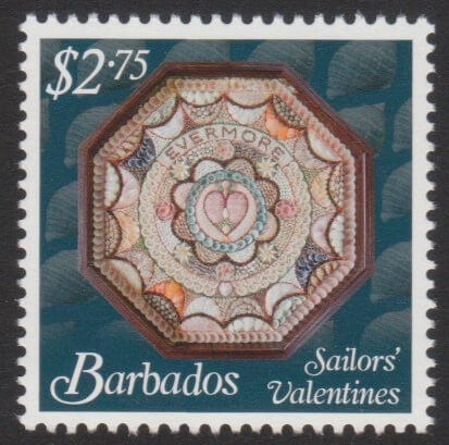 Sailors' Valentines - $2.75 - Barbados SG1378