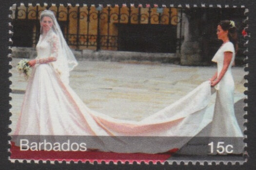 The Royal Wedding of Prince William and Kate Middleton - 15c - Barbados SG1379