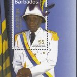 Barbados SGMS1453 - Landships of Barbados $5 souvenir sheet - Lord High Commander Vernon Nathaniel Watson
