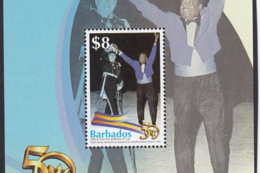 Barbados Stamps 50th Anniversary of Independence Souvenir sheet - $8