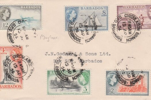 Barbados QEII 1953 commemorative FDC