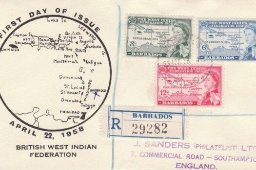 Barbados British West Indian Federation FDC