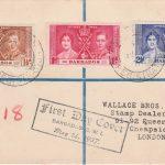 Coronation 1937 Barbados FDC