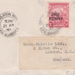 Overprinted George VI Barbados definitive on FDC