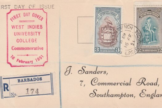 Inauguration of B.W.I University College Barbados FDC 1951