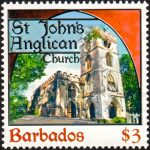 Churches of Barbados - $3 - Barbados SG1403