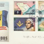 Barbados 1976 The American Revolution Bicentennial FDC - illustrated cover