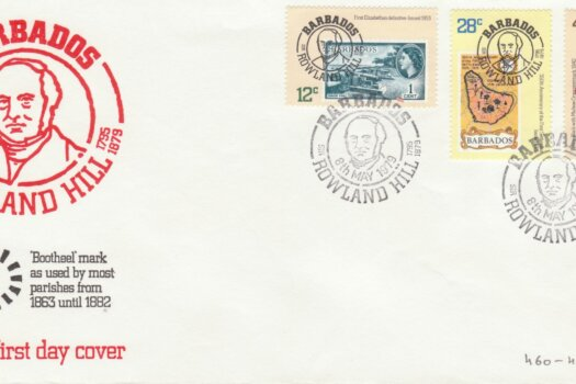 Barbados 1979 Sir Rowland Hill FDC - illustrated cover
